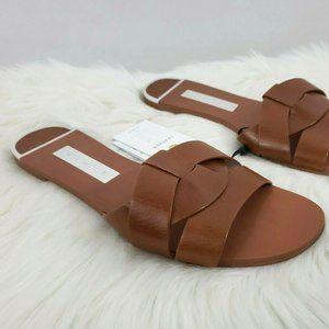 Zara Women's Leather Crossover Sandal Size 7.5